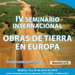 IV Seminario Internacional Obras de tierra en Europa