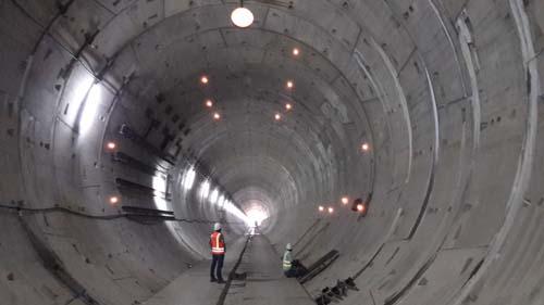 Sección instrumentada en túnel